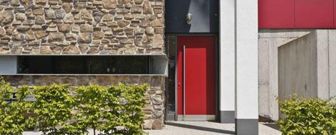 aluminiumtuere aluminiumfenster - Glasfassade Privathaus
