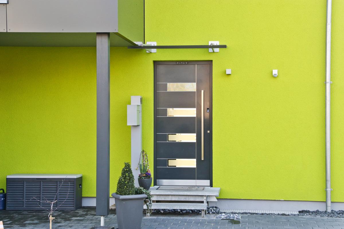 Aluminium-Haustüre Einteilig